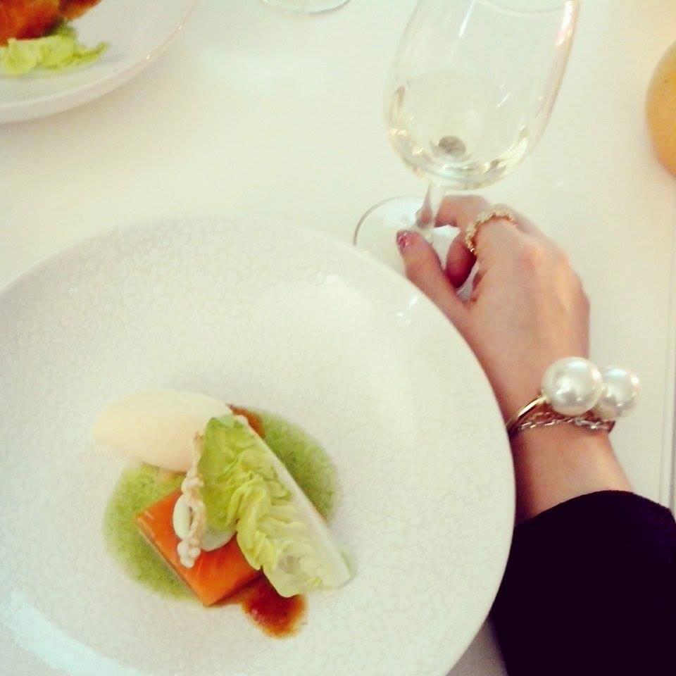 recette saumon cuisson basse température sorbet pamplemousse de floride vinaigrette vanille chef étoilé