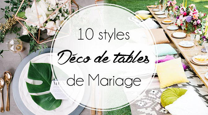 Mariage les d co de tables qu on adore ellemixe for Deco de table original