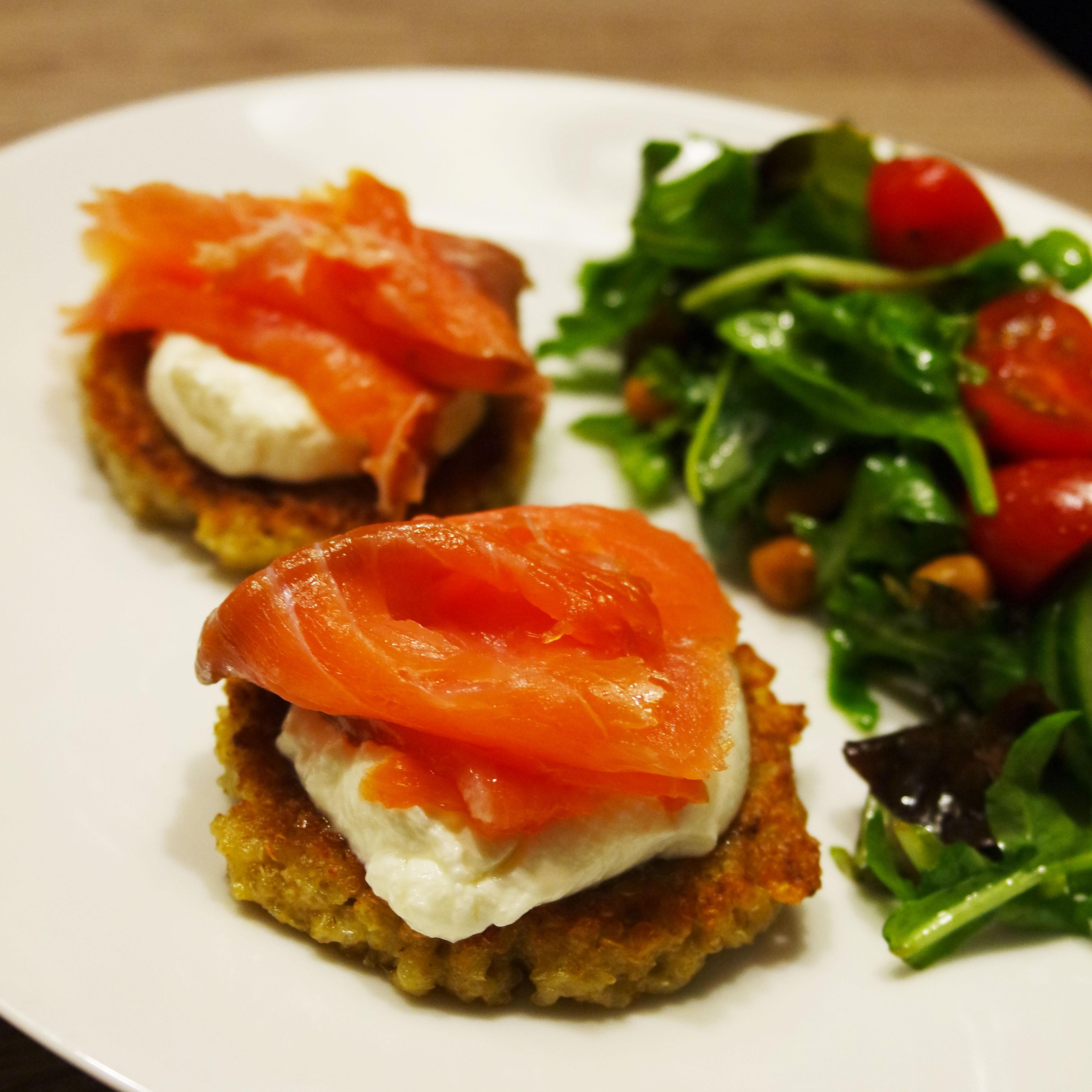 recette-facile-galette-quinoa-light-rapide-saumon-philadelphia-régime-blog-belge-recipe