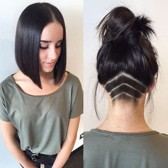 Undercut femme cheveux long