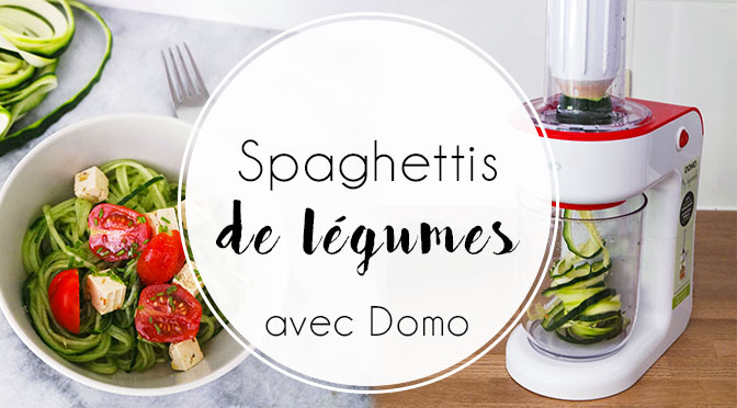 spaghettis de l gumes avec my vegetable par domo ellemixe. Black Bedroom Furniture Sets. Home Design Ideas