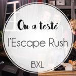 On a testé : La nouvelle escape game à Bruxelles, l'Escape Rush !