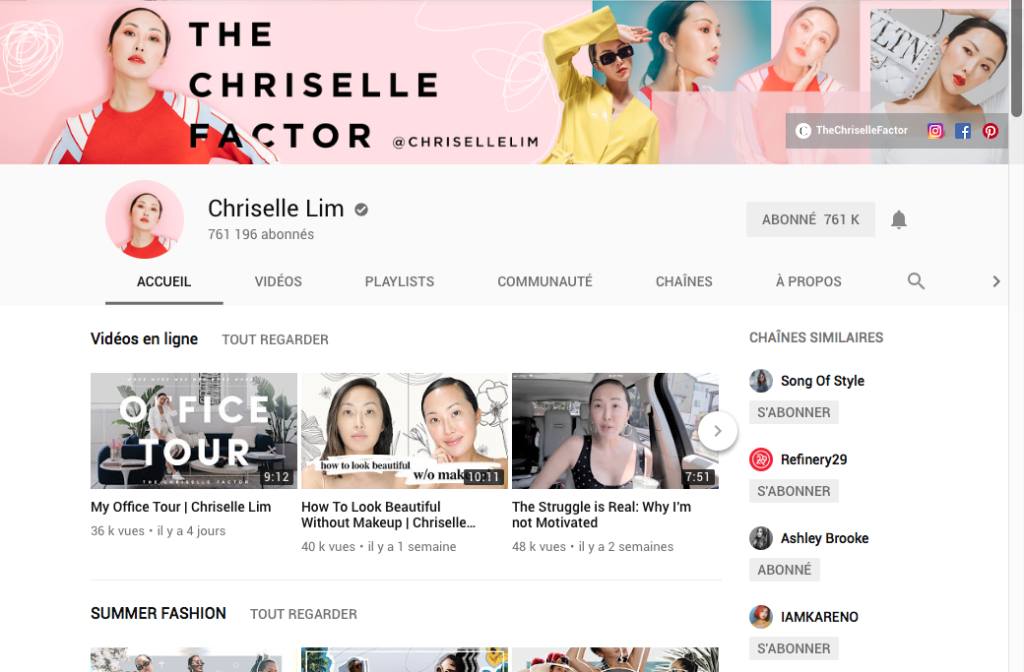 youtube, favorite, chriselle lim