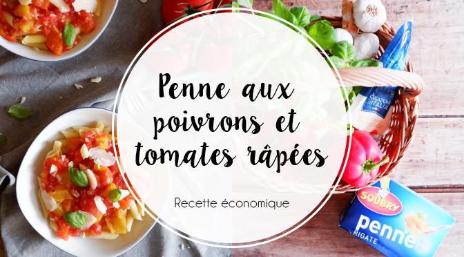 Penne Rigate Aux Poivrons Grillés Et Sauce Aux Tomates Râpées Ellemixe
