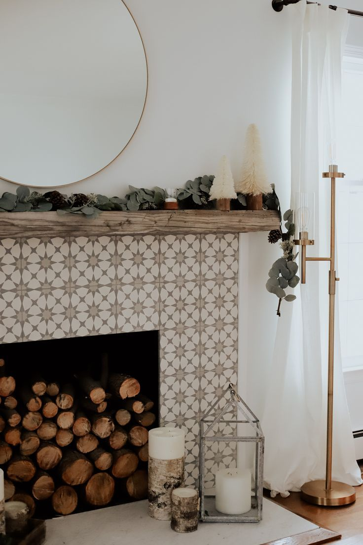 inspiration,décor,home,cozy,salon,cheminée, bûche,hygge