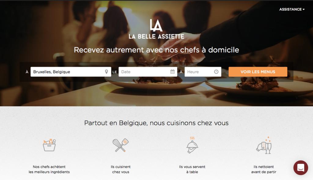 La Belle Assiette - Un site pour réserver les services d'un Chef pro à la maison