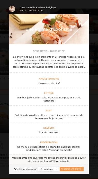 """Menu """"Une pointe d'exotisme"""" du Chef La Belle assiette Belgique"""