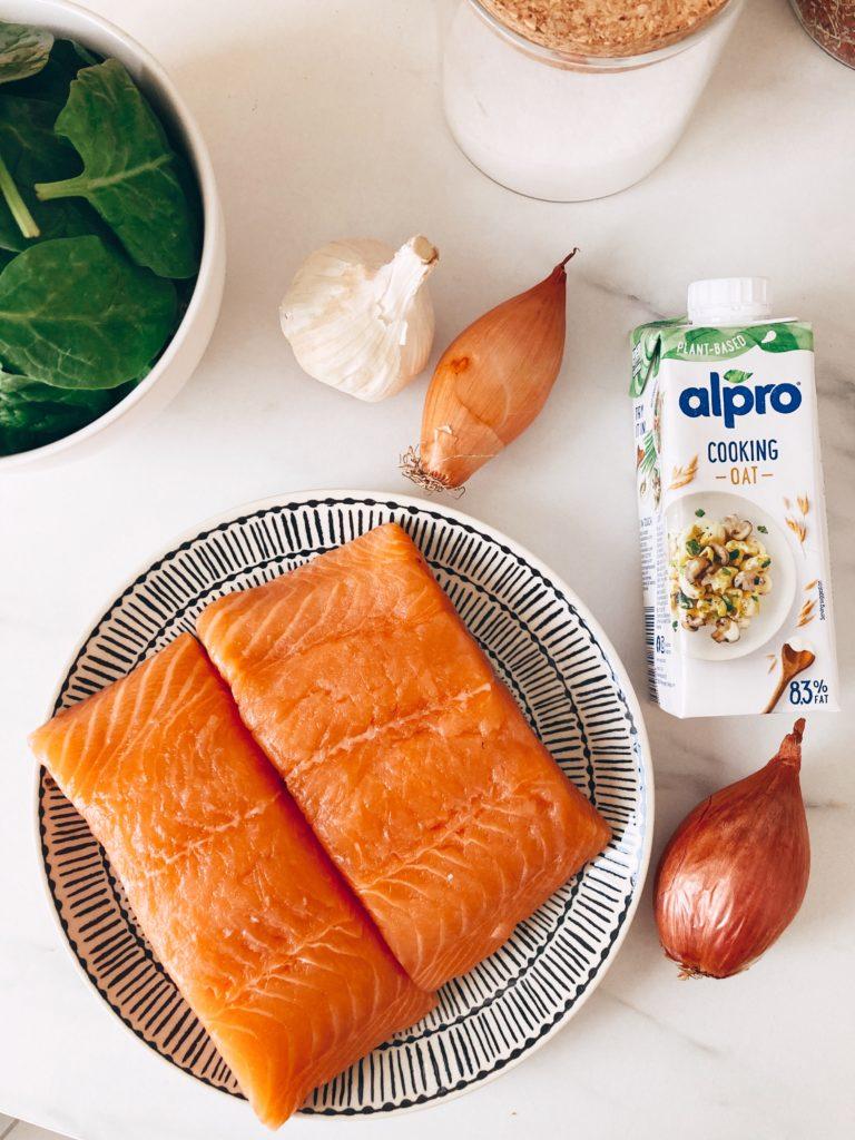 recette-saumon-épinards-sauce-crèmeuse-alpro-cooking-avoine