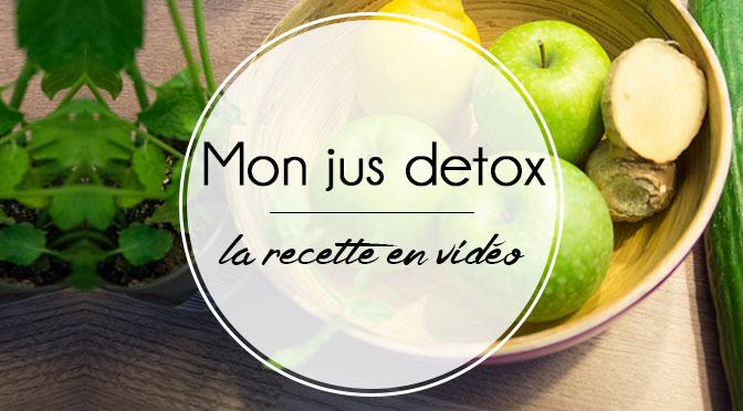 Mon jus detox la recette en vid o ellemixe - Recette jus detox ...