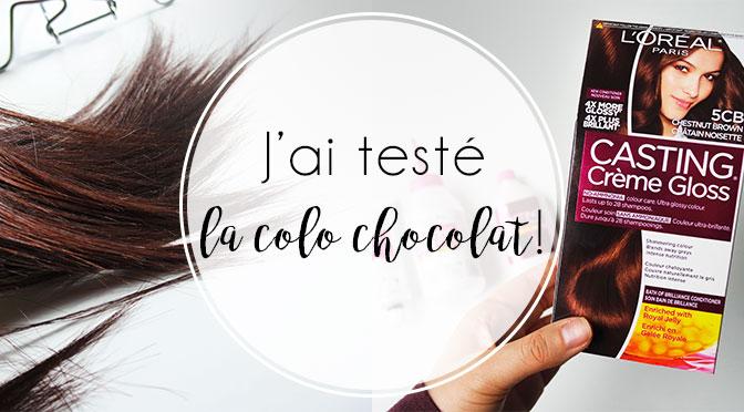 Coloration des cheveux couleur chocolat critiques
