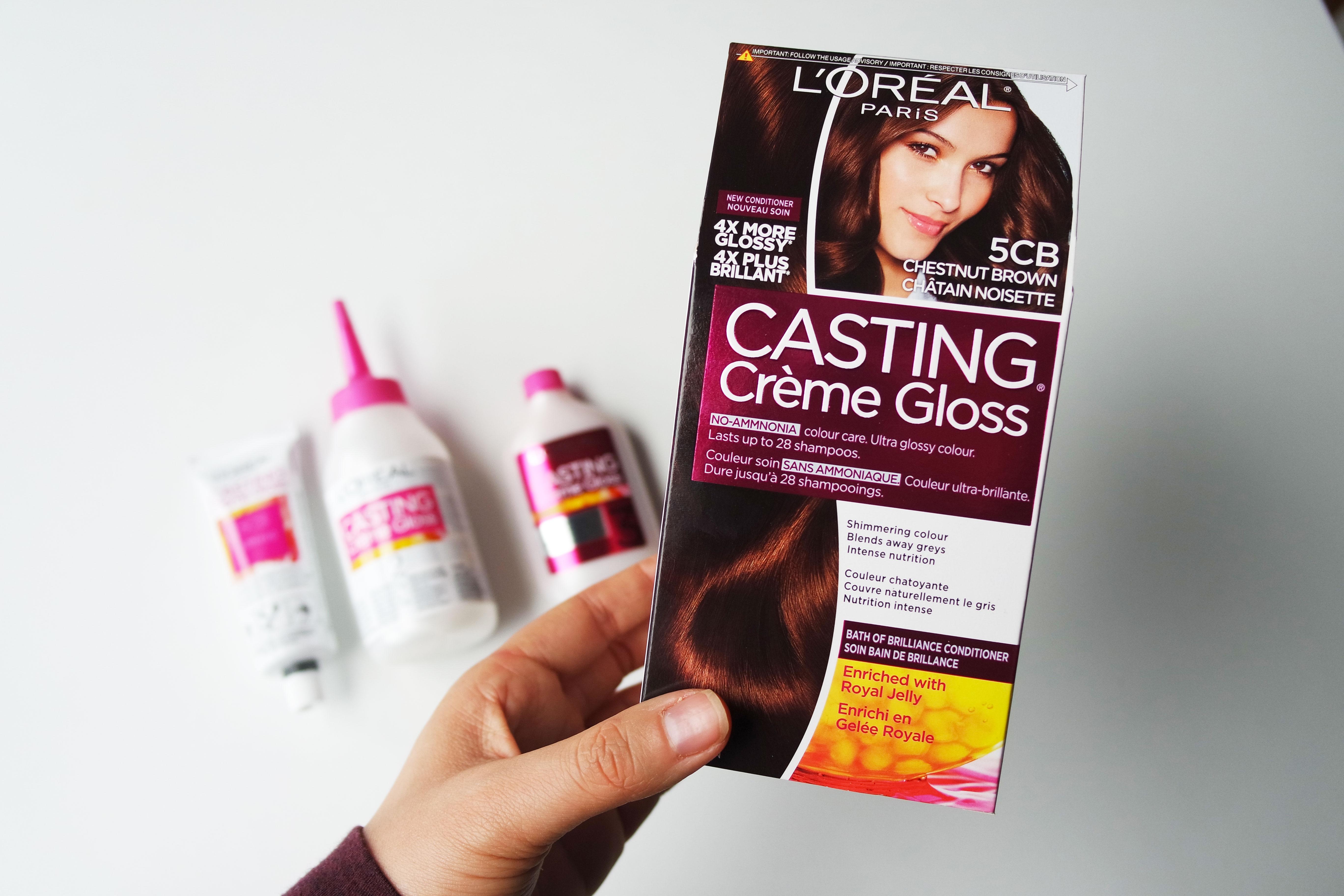 Coloration gloss pour cheveux