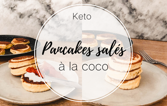Recette pancakes salés à la farine de noix de coco