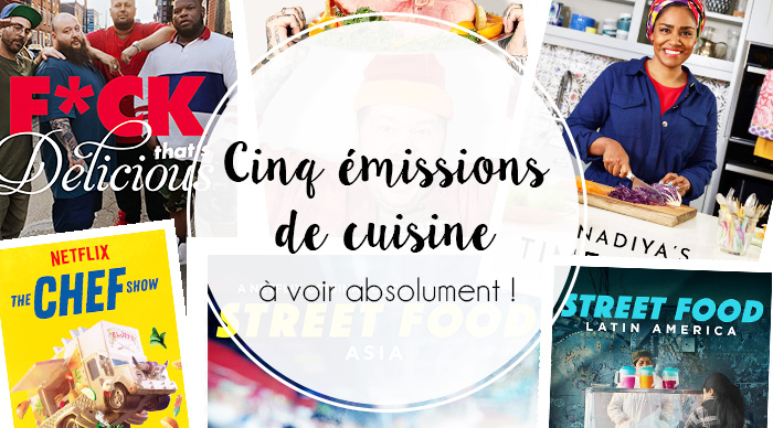 """Header de l'article """"Cinq émissions de cuisine que j'adore"""" par Manon"""