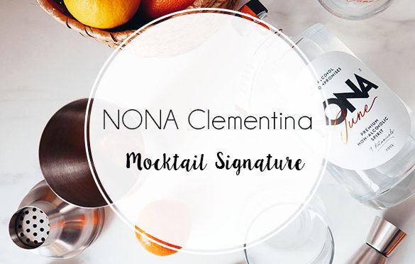 Cocktail Clementina à base de NONA June, Gin belge sans alcool